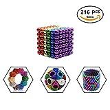 Innumerevoli varianti: 216 sfere magnetiche da 5 mm per lavagne magnetiche, frigorifero, verde, 5 mm (6 colore)