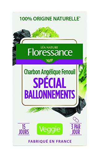 Floressance Phytothérapie Digestion Végétale Spécial Ballonnements Charbon / Angélique / Fenouil 45 Gélules