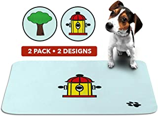 SKA Products Cute Washable Puppy Pee Pads - Large, Reusable, Waterproof, Super Absorbent Pet Potty Mats