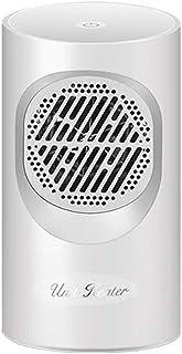 DWLINA Mini Calentadores Eléctricos Hogar Calefactor Dormitorio Calentador De Escritorio Ventilador De Refrigeración-Negro,White,Touch