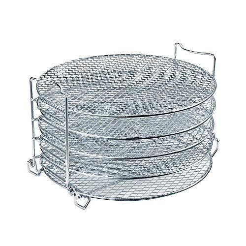 Dehydrator Rack für Ninja Foodi Zubehör, Schnellkochtopf und Luftfritteuse, 6,5 Quart & 8 Quart – Edelstahl Herd Rack mit fünf stapelbaren Schichten