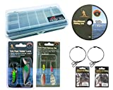 Roddarch Pike Fishing Spinning Tackle Box Set Including Traces Spinners Plugs Swivels Line Lures