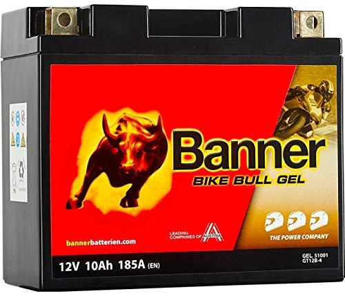 Banner Bike Bull - Batterie à Gel pour moto 10Ah 185A