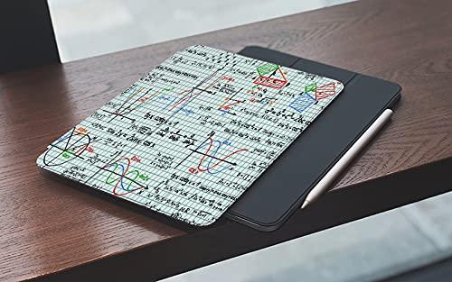 MEMETARO Funda para iPad (9,7 Pulgadas 2018/2017 Modelo), Matemáticas Decoración del Aula Álgebra Estudios Lección Cuaderno Página Bocetos Fór Smart Leather Stand Cover with Auto Wake/Sleep