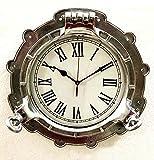 Reloj de pared de Porthole de 15 'Nautical Wall Clock Decoración para el hogar y la oficina
