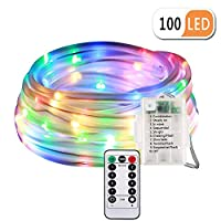 LED Fairy Rope String Lights - Liwiner USB Powered 33FT 100 LED String Light with Remote Timer 8 Mode Dimmable Strip…