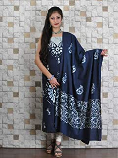 BLUE COTTON BATIK WORK SUIT