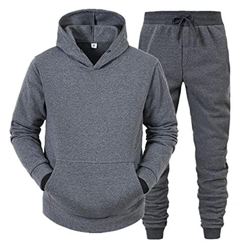 Ropa deportiva Hombres Hoody Sudadera+Pantalones Hombre Chandal Conjunto de 2 Piezas de CháNdal Ropa de Marca Barata Chandals Hombre Conjunto Regalos Practicos para Juvenil Colors S~Xxxl