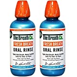 2 x The Breath Co Fresh Breath Oral Rinse Mouthwash - Alcohol Free, No Artificial Flavours or Colours 500 ml -...
