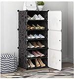 Ranuras de zapato ajustables Organizador Bastidore Torre del organizador de almacenamiento de zapatos para zapatos, estantería de gabinetes modulares para ahorrar espacio, estantes de zapatos para zap