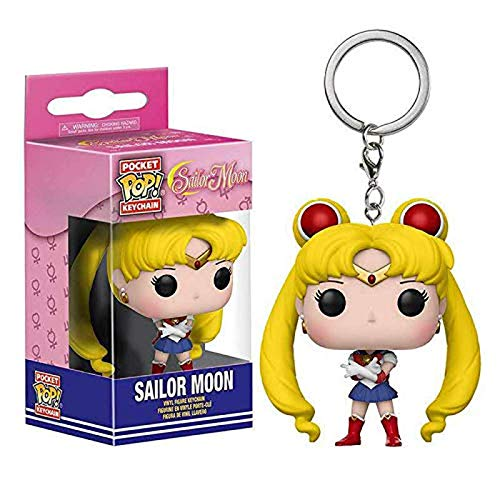 HXHBD Portachiavi Sailor Moon Portachiavi Bunny Water Ice Moon Portachiavi Ciondolo Portachiavi Funko Pop Fatto a Mano