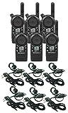 6 Pack of Motorola CLS1110 Walkie Talkie Radios with Headsets