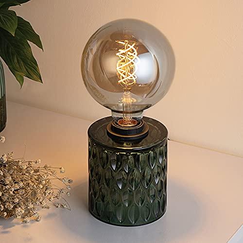 Pauleen 48023 sobremesa Crystal Magic máx. 20W E27 Lámpara para mesita de Noche Verde Vidrio sin Bombilla