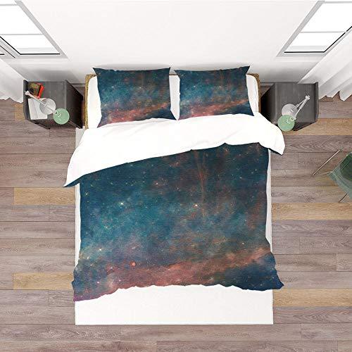 Juego de funda de edredón de 3 piezas de colores mezclados patrón Printe juego de cama reversible suave microfibra agradable a la piel para niños adolescentes adultos 180 x 200 cm
