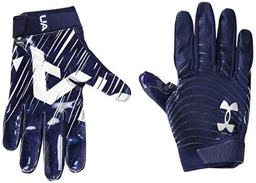 Under Armour Men's Blur Gloves , Midnight Navy (410)/Metallic Silver, X-Large