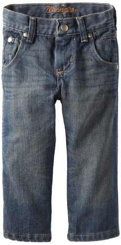 Wrangler boys Retro Relaxed Fit Boot Cut jeans, Night Sky, 16 Husky