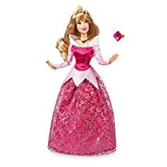 Deluxe costume features satin gown, peplum, and trims Mesh skirt overlay with glittering filigree pattern ''Holographic'' glitter detail Fully poseable Ages 3+