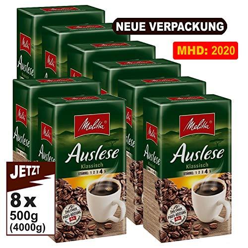Melitta Auslese klassisch Filterkaffee 8x 500g (4000g) - Kaffee aus besten Anbaugebieten