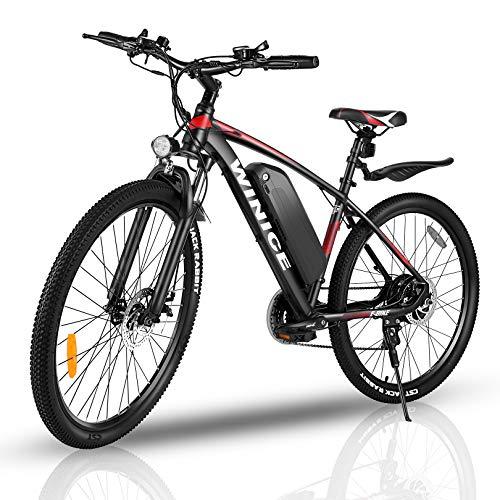 """VIVI Elektrofahrrad Herren 27.5\"""" Mountainbike mit 350W Motor,Abnehmbare 36V/10.4Ah Batterie /21-Gang-Getriebe/Höchstgeschwindigkeit 32km/h/Kilometerstand Aufladen Bis zu 40km (rot, 27,5 Zoll)"""