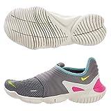 Nike Wmns Free RN Flyknit 3.0, Zapatillas de Atletismo para Mujer, Multicolor (Gunsmoke/Volt/Aurora Green 000), 37.5 EU
