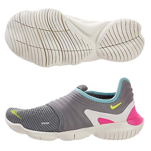 Nike Womens Free RN Flyknit 3.0 Running Trainers AQ5708 Sneakers Shoes (UK 4.5 US 7 EU 38, Gunsmoke Volt Green 002)