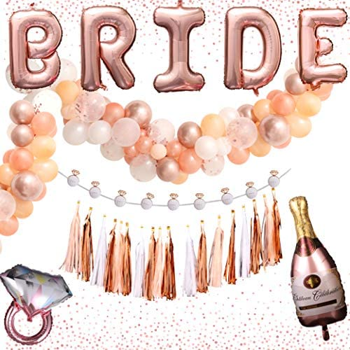 Bachelorette Party Decorations Set Rose Gold Balloon Garland Kit Bridal Shower Kit Bridal Decorations product image