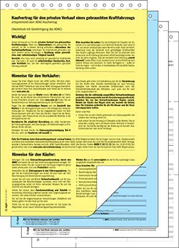 günstig SIGEL KV440 / 25 Gebrauchtwagenkaufvertrag (ADAC), DIN A4, 25 Stück Vergleich im Deutschland