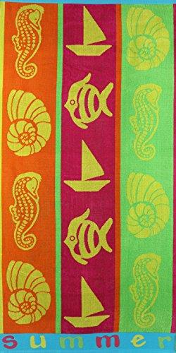 Betz Toalla de Playa de Terciopelo Toalla de baño 100% algodón 70x140 cm diseño Summer