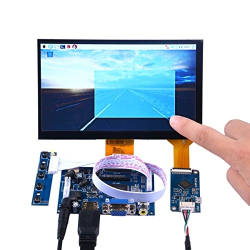 pzsmocn 7-Inch-1024 * 600 Capacitive Touch Screen DIY Kit for Raspberry Pi/Beagle Bone Black/PC and Mac Book
