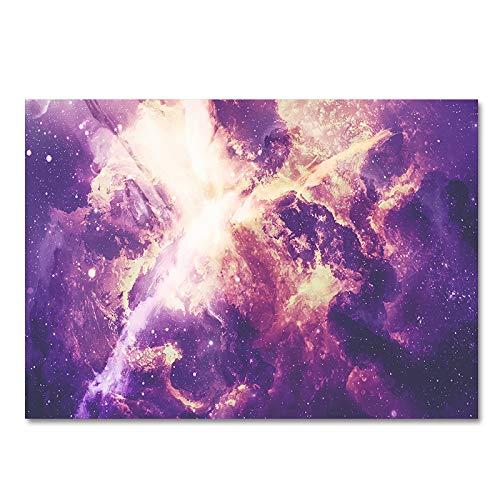MMHJS Alfombra Espesa Antideslizante De Doble Capa Adecuado para Dormitorio, Baño, Almohadilla De Porche Alfombra con Patrón De Universo Estrellado 3D