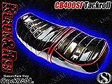 W1-4RD CB400SF CB400スーパーフォア CB400SB CB400スーパーボルドール Hyper Vtec Revo NC39 SPEC1 SPEC2 SPEC3 NC42 対応 タックロールシート 一式 シートベルト 金具付き エナメルシート ブラック レッドパイピング