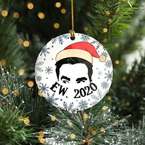 Lplpol Keepsake Ew 2020 Ew David Rose Funny David Printed Holiday Ornament Schitt'S Creek TV Show Movie Gifts - Funny Quarantined Christmask Ornament 3 inches