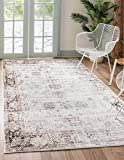 Unique Loom Sofia Collection Traditional Vintage Area Rug, 8' x 10', Ivory/Brown