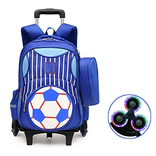 ODODDE Backpack for Teens,with Wheels School Bag Backpack for Boys Trolley 7-12 Years Old Children Waterproof Lightweight Grades Students Bag,A,6 no color wheels