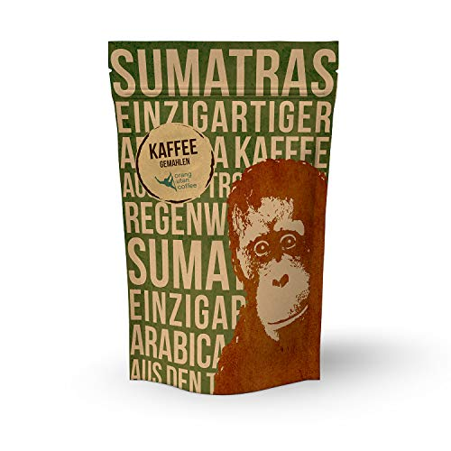 Orang-Utan Sumatra Arabica Kaffee gemahlen 250 g