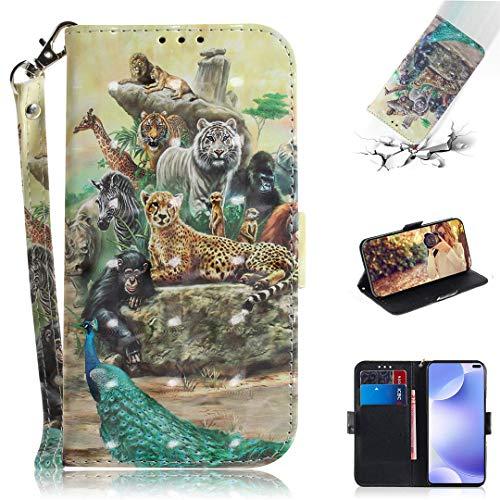 SATURCASE Xiaomi Pocophone X2 Hülle, 3D PU Lederhülle Ledertasche Magnetverschluss Brieftasche Kartenfächer Standfunktion Handschlaufe Schutzhülle Handy Tasche Hülle für Xiaomi Pocophone X2 (TD-10)