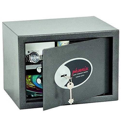 Phoenix Safe Company extra large'vela casa e ufficio, cassaforte con serratura a chiave small graphite grey