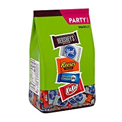 Candy Mix is ideal for parties, movie nights, lunch desserts, and more Party-size package is great for sharing at home or work Individually wrapped treats for on-the-go snacking Classic candy assortment includes hershey's milk Chocolate Bars, REESE'S...
