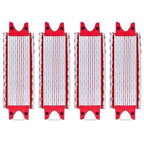 Lote de 4 almohadillas de microfibra para Vileda EasyWring Ultramax/ 1-2 aerosoles de microfibra para Vileda Ultramax, UltraMax, UltraMax y Easy Wring UltraMax Carlin
