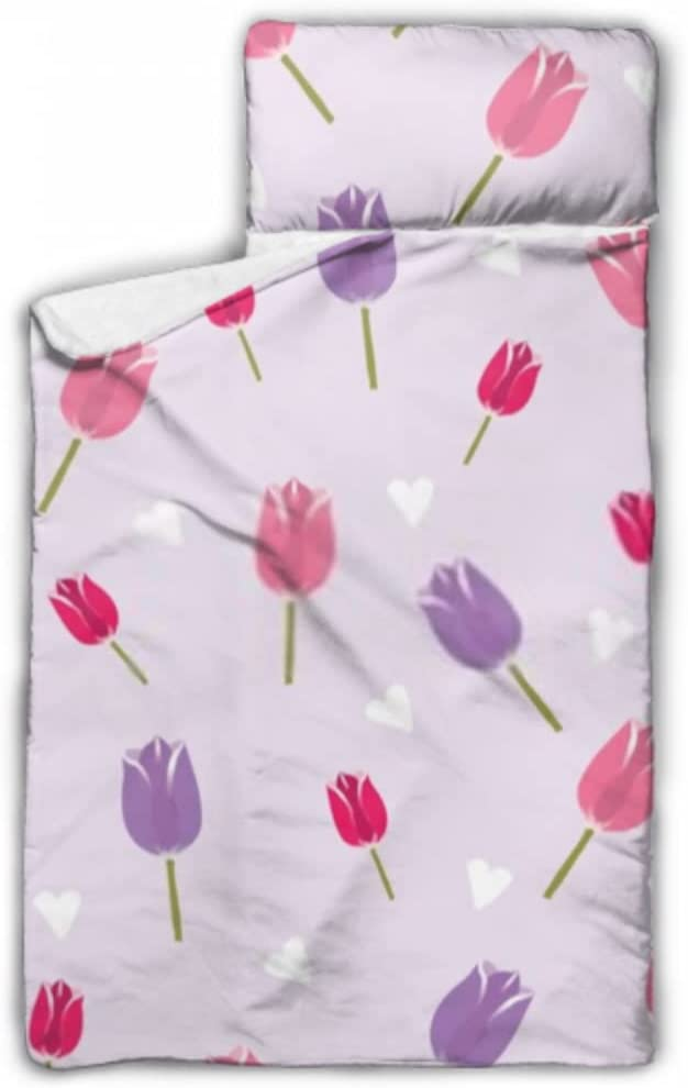 JIUCHUAN Directly managed store Kids Sleeping Bag Romantic Pattern Vecto Tulip Over item handling Seamless