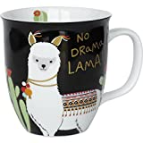 H:)PPY life 45544 Kaffee-Tasse mit Motiv Lama, Geschenk,