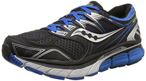 Saucony Men's Redeemer ISO Running Shoe, Black/Blue,8.5 M US