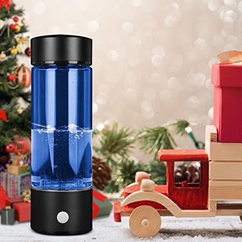 KKTECT Wasserstoff-Wasser Flasche Wiederaufladbarer wasserstoffreicher Generator Tragbarer Gesundheits-Wasserbecher Anti-Aging, Anti-Falten Multifunktionale Glasflasche, hohe Wasserstoffkonzentration