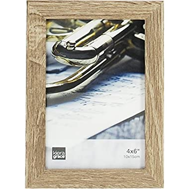 Kiera Grace Linear Picture Frame, 4 by 6 Inch , Driftwood Grey