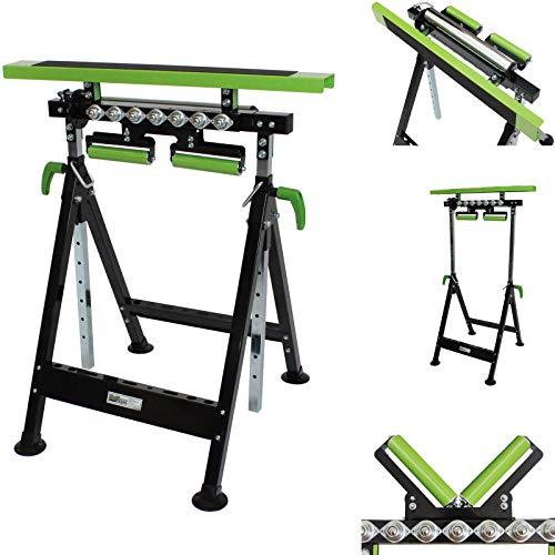 2 X Multifunktions-Arbeitsbock Rollenbock höhenverstellbar Klappbock V-Rollen klappbar 200 kg Werktisch 4 in 1 …