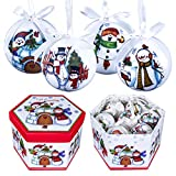 The Christmas Workshop 14 Piezas 71580 para Collage de muñeco de Nieve con Bolas para árbol de...