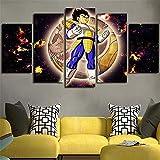 ZKDT Impresión sobre lienzo Goku Dragon Ball Super Anime Poster 5 imágenes Home Decoration (enmarcado, tamaño 1)