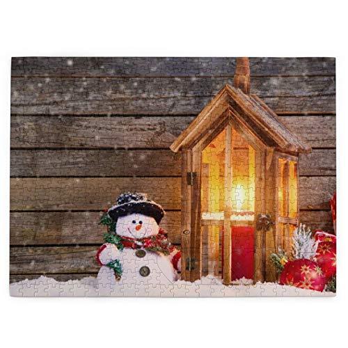 Buon Natale neve pupazzo di neve candele palle regalo 520 pezzi immagine puzzle divertenti regali creativi per bambini adulti compleanno Natale