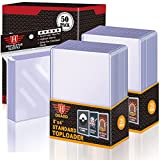50 Count TopLoaders Card Sleeves and 200 Count Clear Soft Sleeves for Trading Card, Protective Sleeves Holder Fit for Stardard Cards, Baseball Card, Sports Cards, MTG, Yugioh