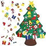 OUTAD - Albero di Natale Fai da Te in Feltro, 30 PCS, Decorazione in 3D, per casa, Porta, Finestra, Parete, Natale, 130 cm (30 PCS)